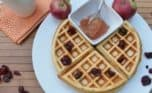 Looking for healthy snack recipes for kids? How about this homemade waffle with delicious apple butter