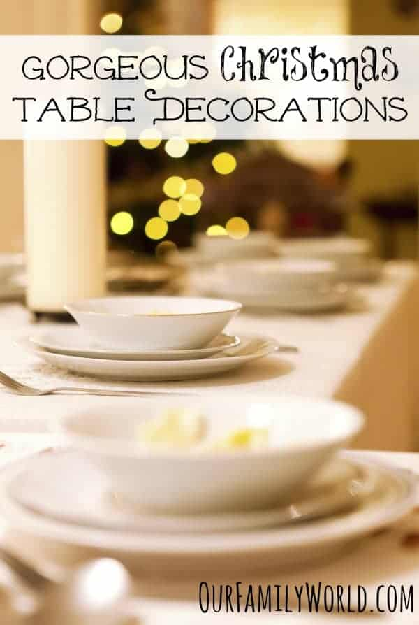 Gorgeous Christmas Table Decorations for Your Holiday Parties