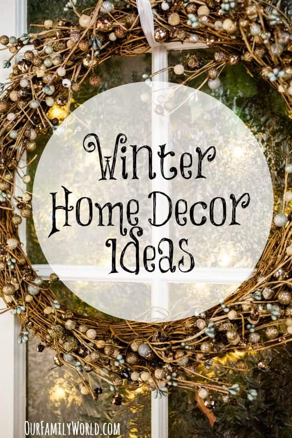Turn your home into a stunning winter wonderland with these gorgeous winter home decor ideas!