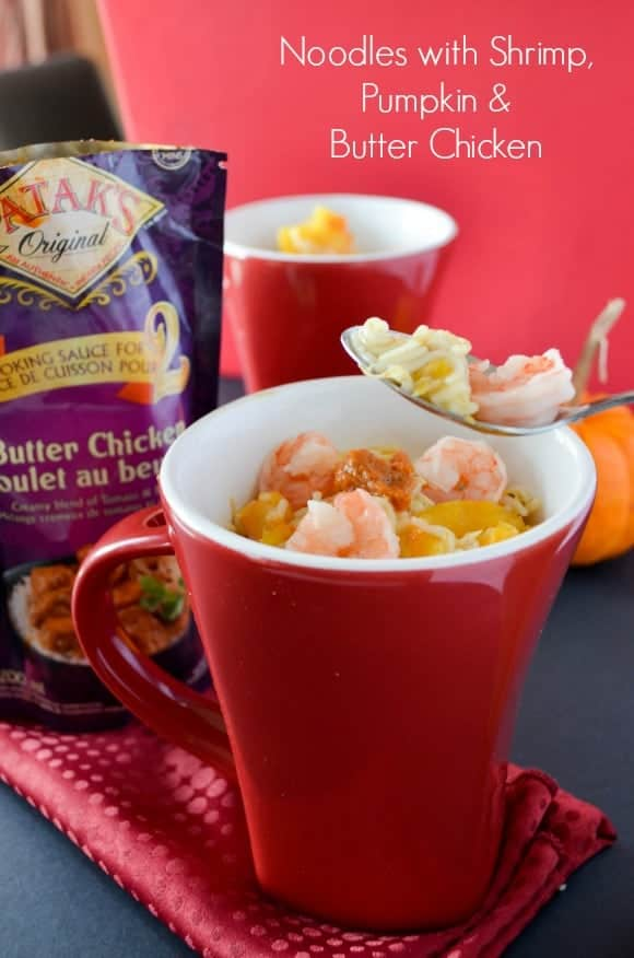 easy-healthy-dinner-recipe-noodles-shrimps-pumpkins-butter-chicken