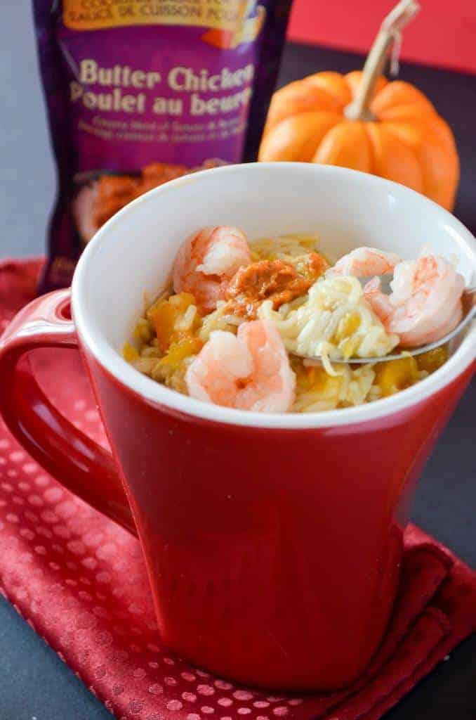 easy-healthy-dinner-recipe-noodles-shrimps-pumpkins-butter-chicken