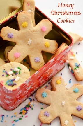 Santa will love our honey Christmas cookies recipe! Not only are they a healthier Christmas cookie, they're also incredibly tasty! Gobble them up at home or put them in a pretty box for sweet handmade gift ideas!