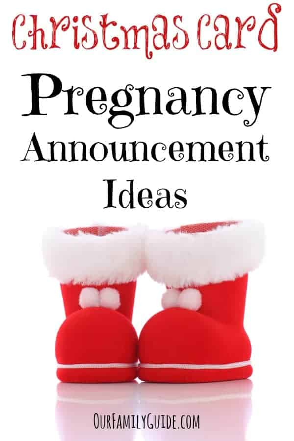 christmas card pregnancy announcement ideas