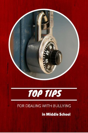 Use these Tips For Dealing With Bullying In Middle School to help keep your kids healthy physically and emotionally. Help prevent bullying in your schools.