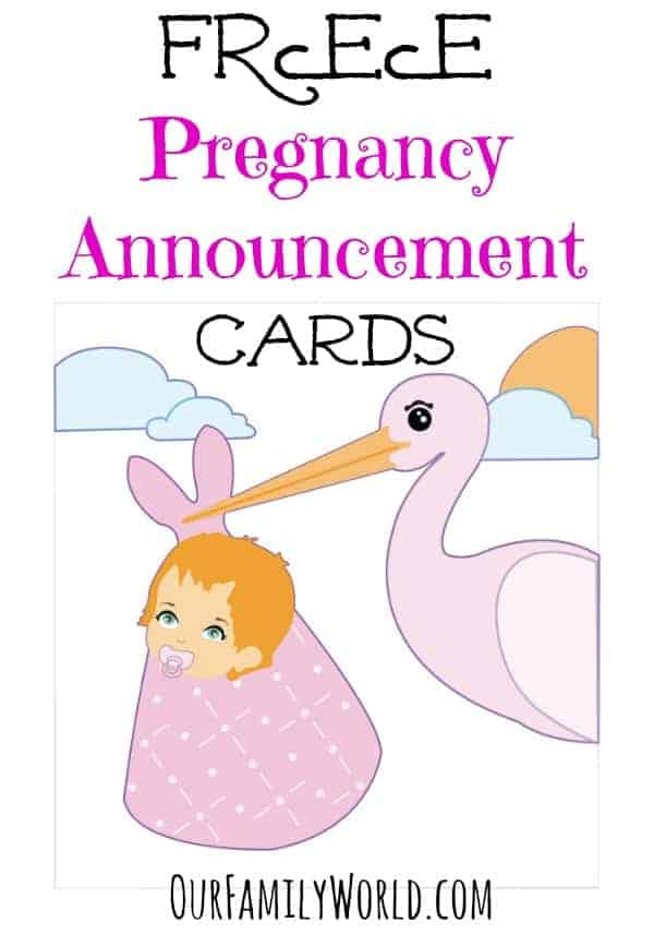 Great Free Pregnancy Announcement Cards – Baby Announcement Template Free