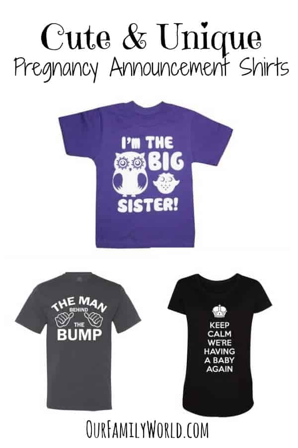 Pregnancy Announcement Shirts