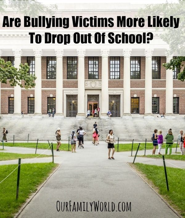 Are Bullying Victims More Likely To Drop Out Of School? We looked at the statistics and broke them down to answer this question about bullying consequences.