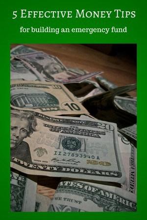 money tip to create an emergency fund