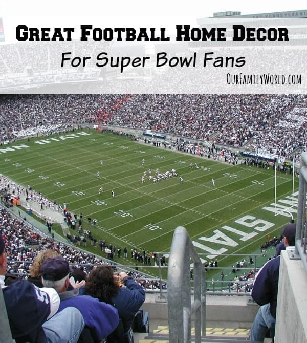 Looking for the coolest football home decor for Super Bowl fans? Check out some of our favorites, from DIY projects to cool home decor you can buy!