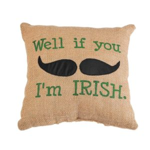 Irish Mustache Pillow ST. PATRICK'S DAY DECORATION IDEAS
