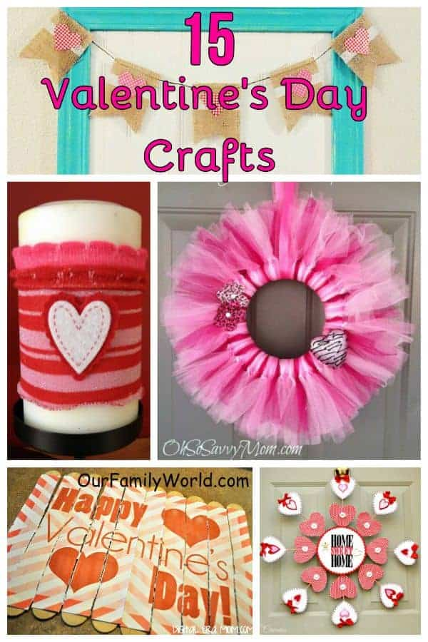 Check out these 15 Easy Valentine's Day Crafts for families that are perfect for decorating your home! Find a great mix of crafts for adults and kids!