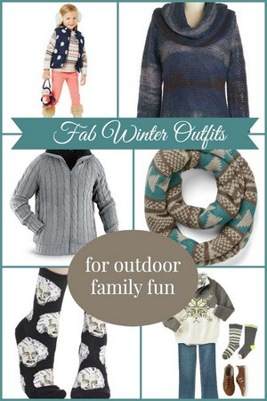Amazing Winter Outfits for Outdoor Family Fun