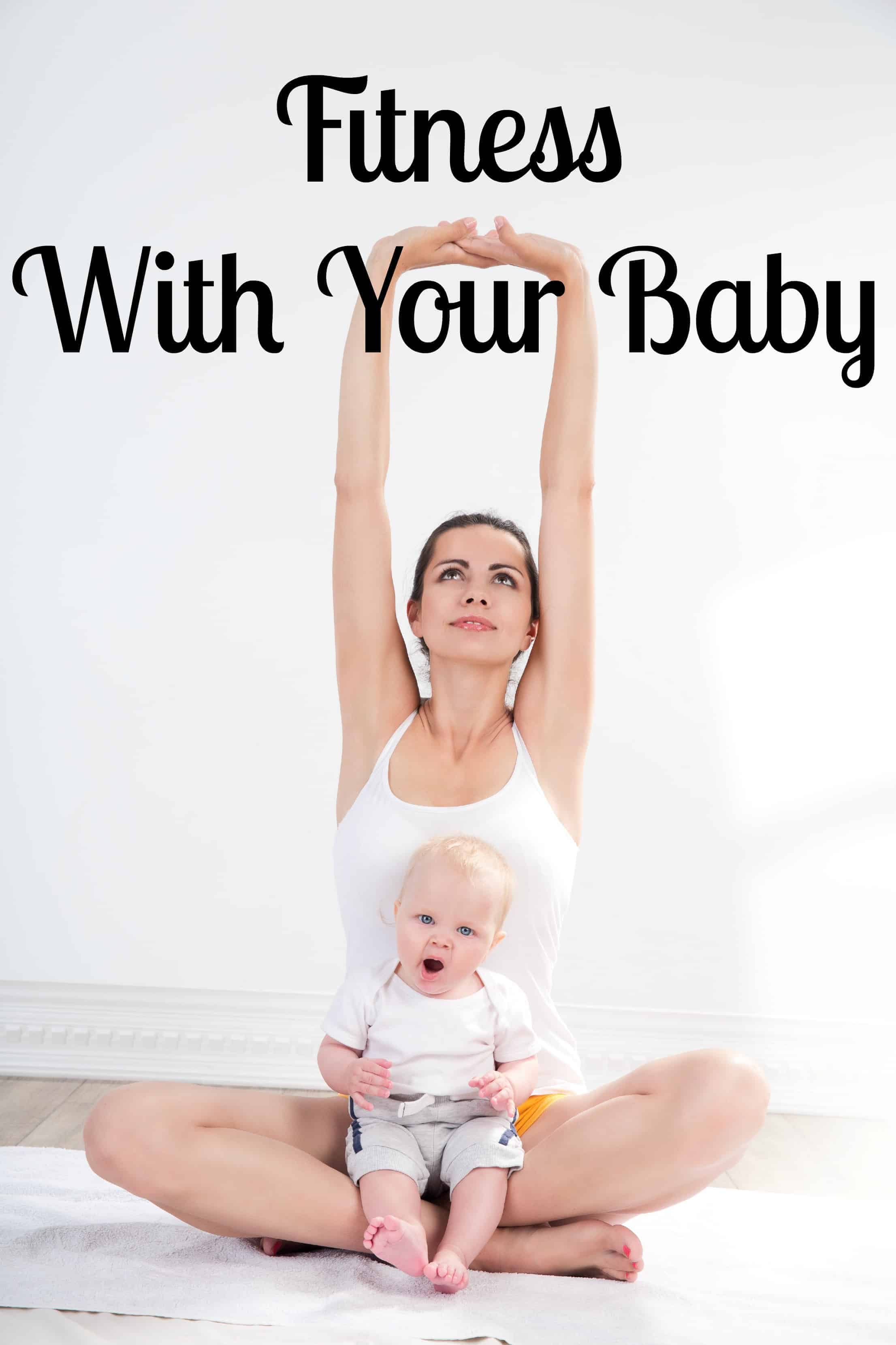 Wondering how to stay in shape with an infant? Check out these fun tips for fitness with a baby! It's easier than you might think to workout with an infant!