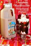 Looking for an easy and delicious Valentine's Day snack for kids? Try out Chocolate Marshmallow Strawberry Parfait made with yummy TruMoo!
