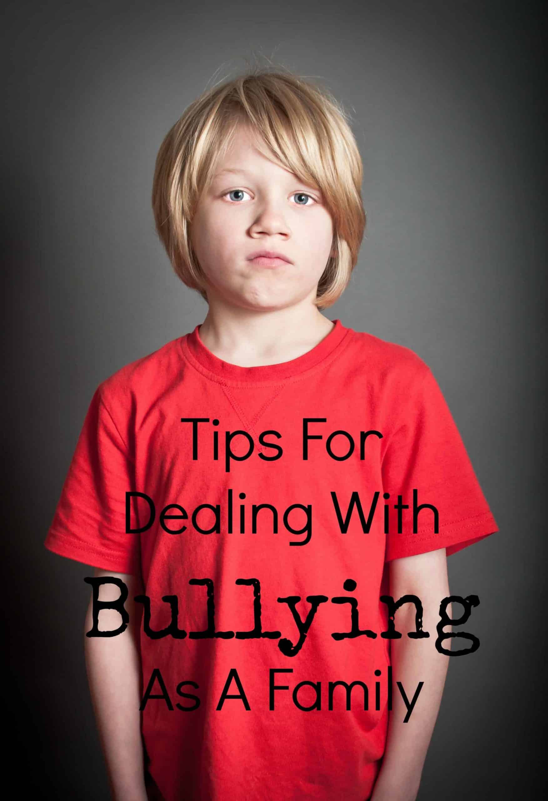 When your child is bullied, he needs everyone to rally around to get him through this time. Check out our tips for dealing with bullying as a family.