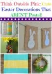 Not a big fan of soft pinks and baby blues? Check out these cute Easter decorations that AREN'T all about the pastels colors! Think outside pink!