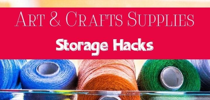organize arts and craft supplies