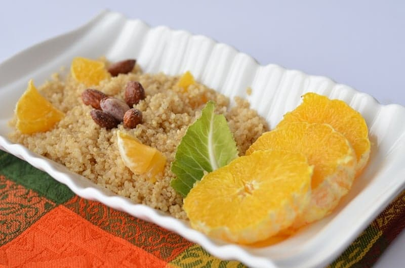 Zesty Orange and Almond Quinoa Salad