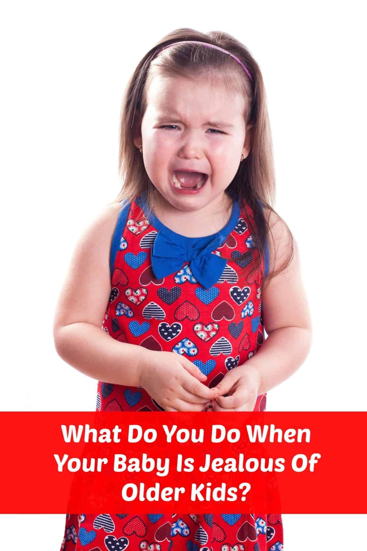 What do you do when your baby is jealous of older kids? Yes, it does happen! Check out these parenting tips on coping with toddler jealousy!