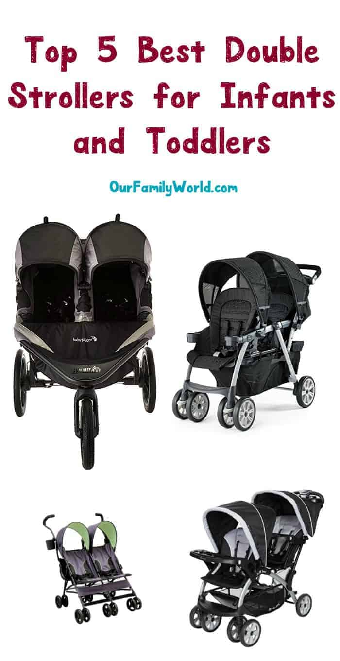 Got twins? How about a toddler with another on the way? Whatever the reason, sometimes you need one of these great double strollers for infants and toddlers!