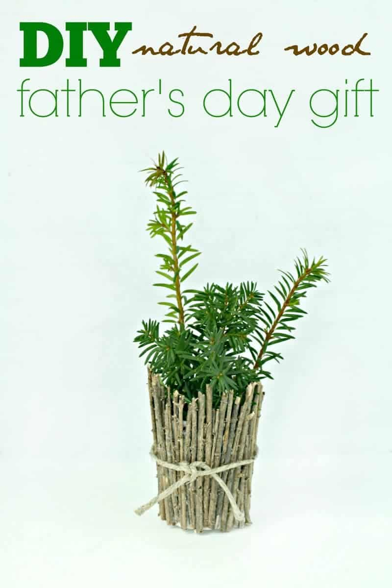 Looking for a cute homemade Father's Day gift idea that you won't cost you a fortune in supplies? Check out this adorable DIY Natural Wood Planter! It's a fun and easy dollar store craft that kids can make almost on their own, with just a little help from mom. Even if dad isn't a gardener, he'll love this fun Father's Day craft because it comes from the heart!