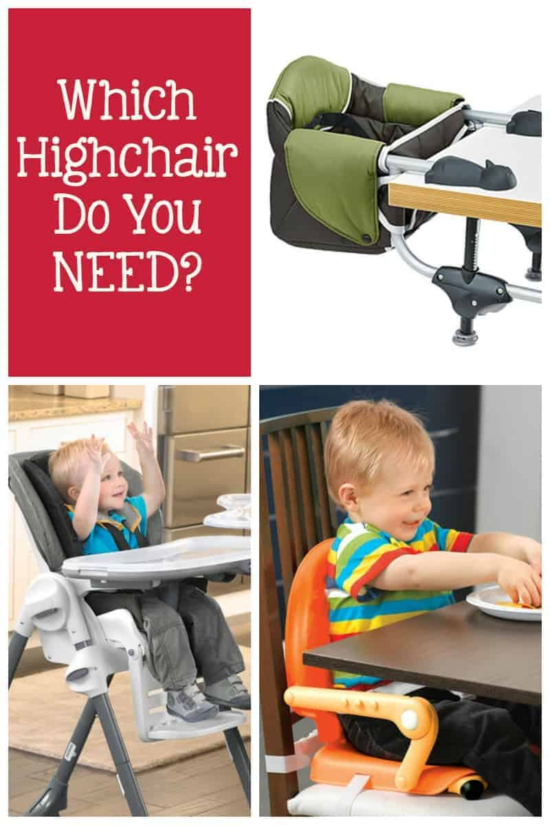 So you've reached the highchair portion of your baby registry and you're confused by all the choices. Which do you need? Don't worry, I'll tell you!
