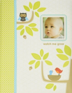 Carters Woodland Themed 5 Year Baby Book