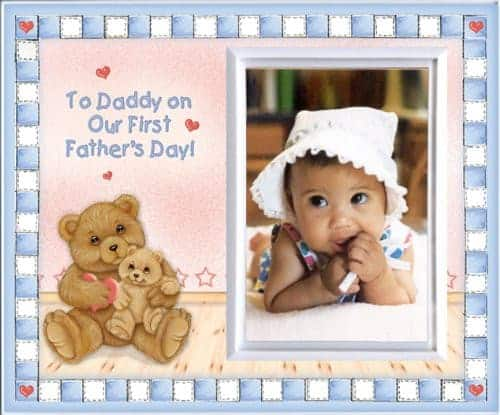 First Fathers Day Picture Frame Father's Day gifts from baby