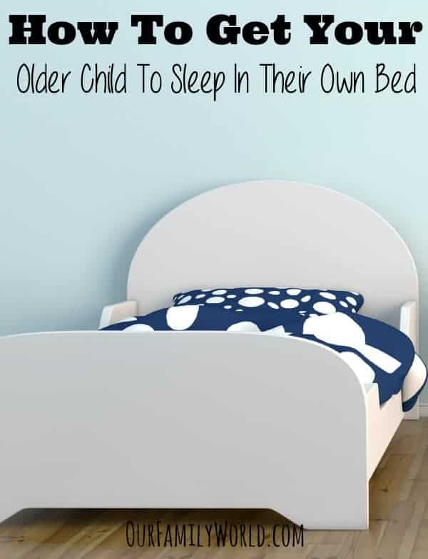 Looking for tips on how to get your older child to sleep in their own bed? Check out a few ideas that will hopefully have everyone resting easier at night in their own spaces!