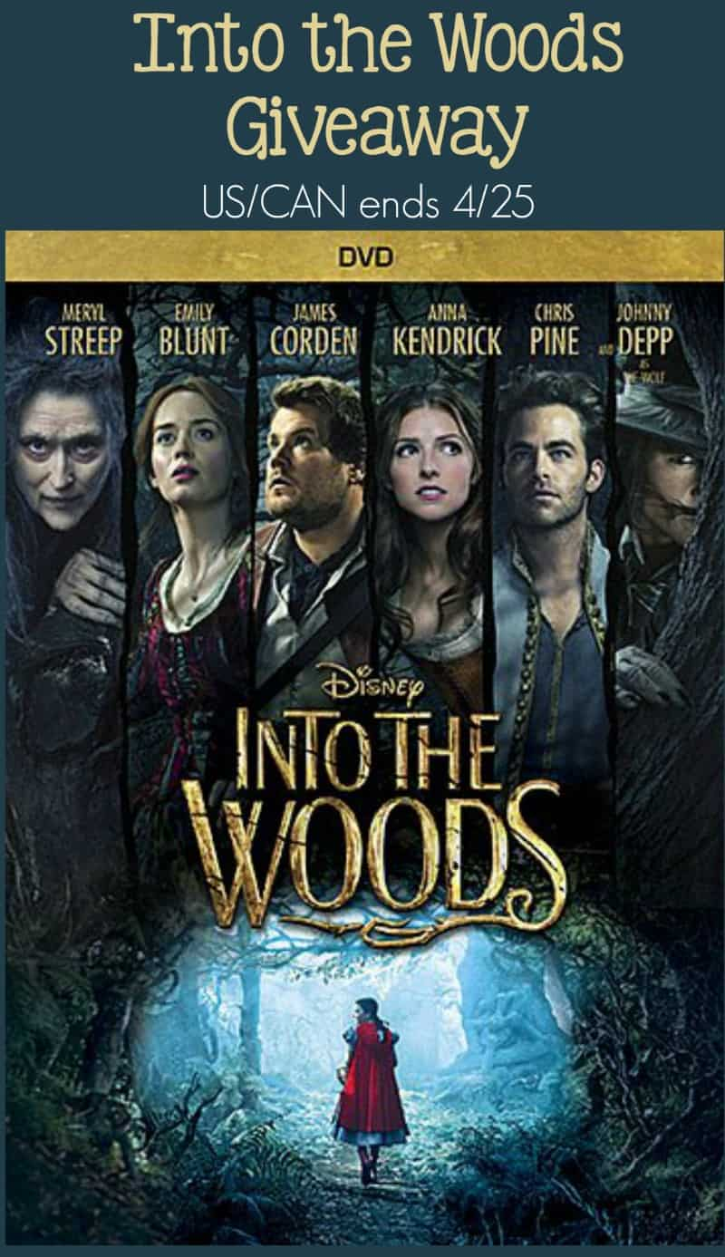 Into the Woods Giveaway