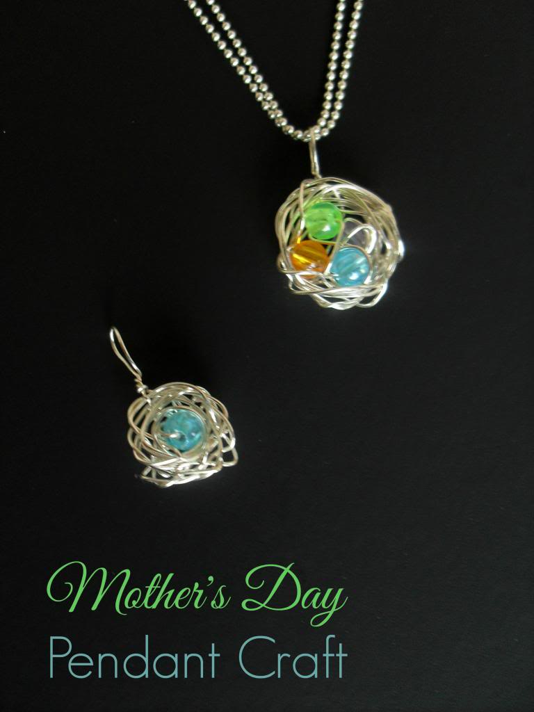 Mothers Day Craft idea: handmade pendant