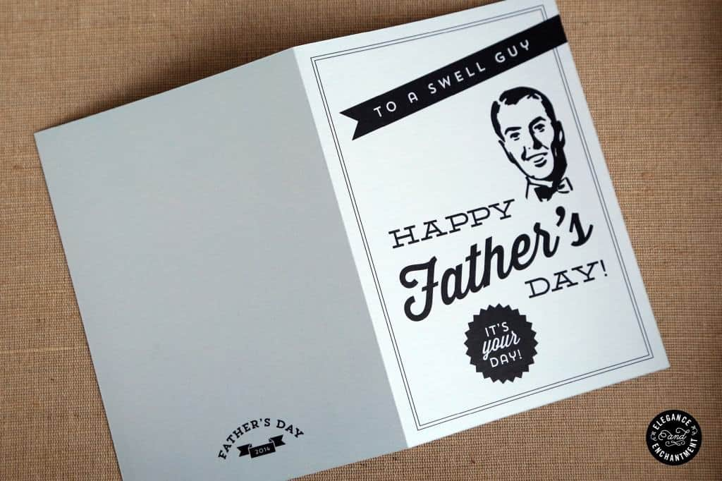 Retro Fathers Day Card Printable Father's Day Cards Ideas