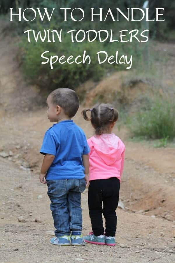 Dealing with twin toddlers speech delays isn't much different than dealing with it in one child, you just have twice as much work to do. Check out our tips to make it easier!