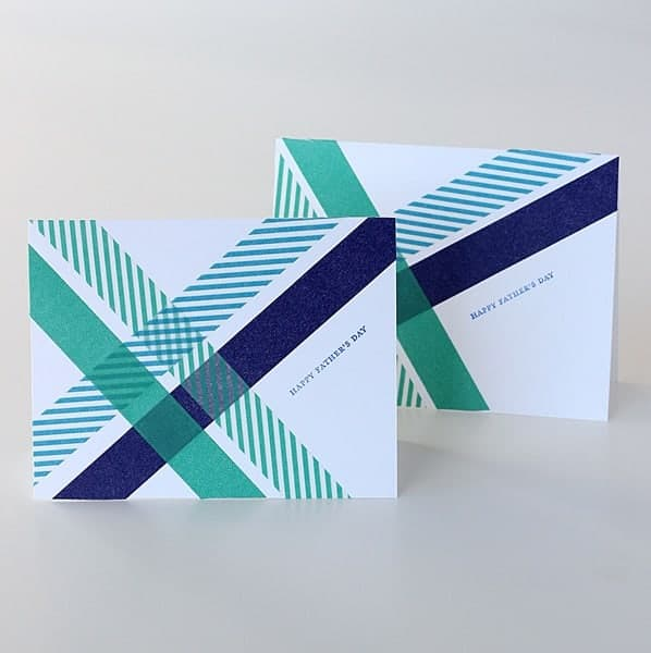 Washi Tape Fathers Day Cards Ideas