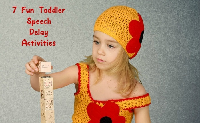 Toddler speech delay activities don't have to be all work and no play! Check out 7 activities to help develop language skills that your toddler will actually enjoy!
