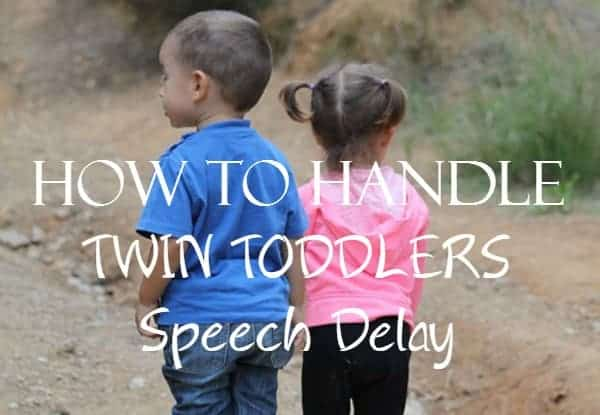 Twin toddlers speech delay