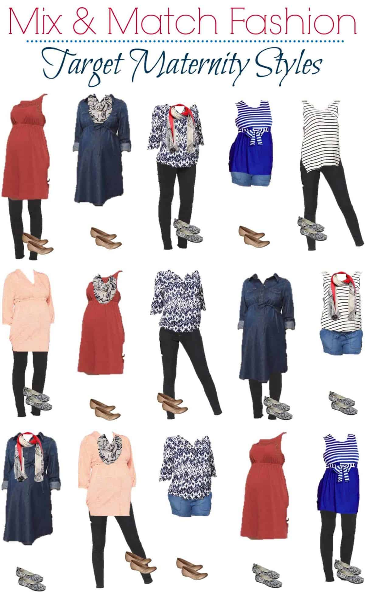 Looking for summer pregnancy maternity fashions that won't break your baby budget? Check out ten great outfits, all with pieces that cost under $40 each!