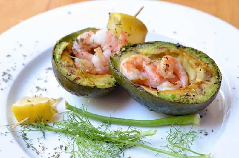 Grilled Avocado with Shrimp Salad Recipe: A Delicious & Unique Meat Alternative