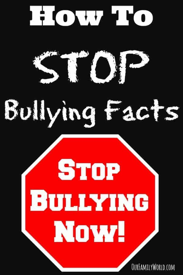 """Looking for facts on how to stop bullying? Check these out! These """"stop bullying facts"""" are perfect for your slogans, posters and other projects to put an end to bullies in your neighborhood."""