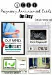 Looking for fun ways to share your good news but don't have the crafting bug yourself? Check out our favorite pregnancy announcement cards on Etsy!