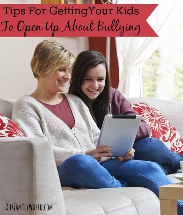 Parents need these tips for getting your kids to open up about bullying. Not only are more and more children coming forward with examples of being bullied, more parents are at a loss as how to reach out to their children.