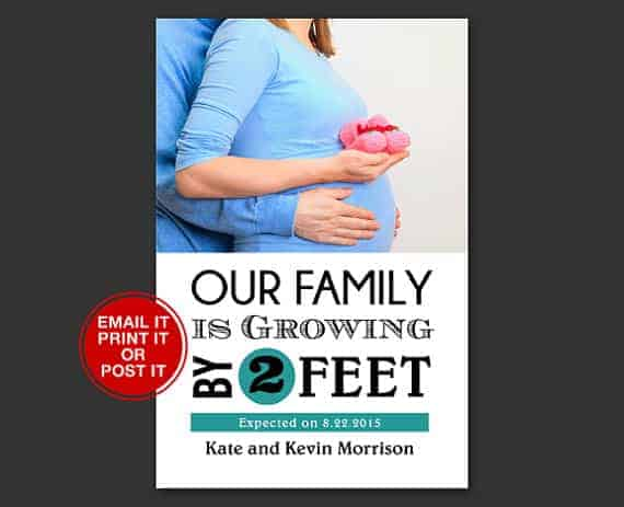 Our Family Is Growing By Two Feet: