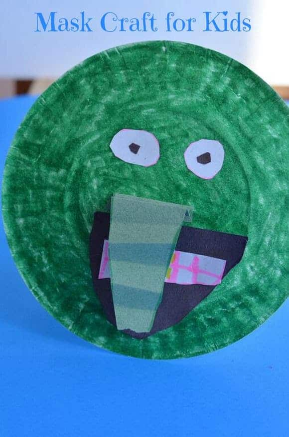 Looking for an easy summer craft for kids that also encourages imagination beyond the crafting table? Check out this fun mask craft for kids!