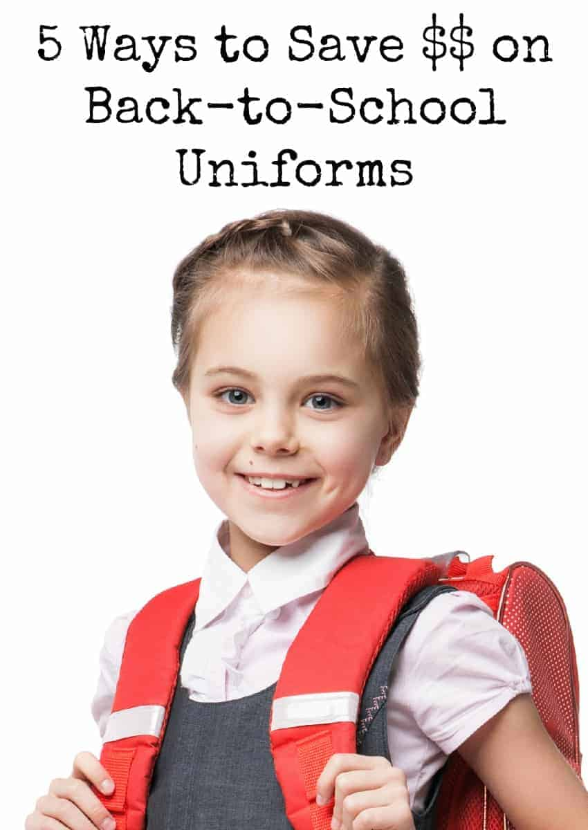 Fretting over the rising cost of school clothes for your child? Check out our five easy ways to save on back-to-school uniforms & start stocking up now!