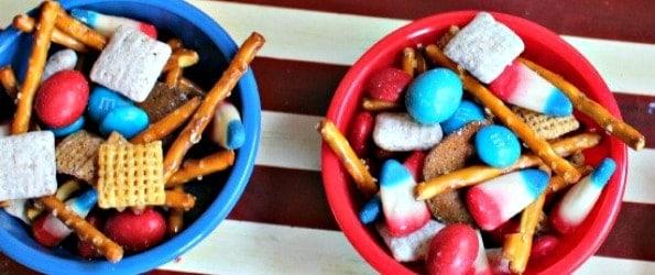 Patriotic-Snack-Mix Labor Day Party Recipes