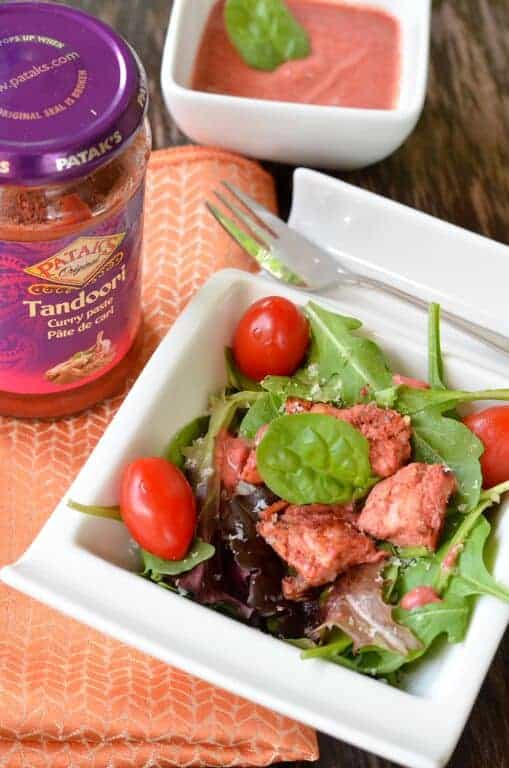 Ready to spice up your salad? Try this amazing Chopped Tandoori Chicken Salad recipe for a spicy taste of India that your whole family will enjoy!