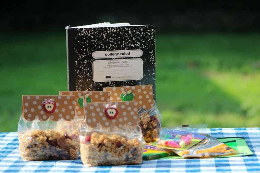 Looking for a delicious back to school snack for kids? Try this yummy and easy nutty granola trail mix! It's super simple to make and customize for kids!