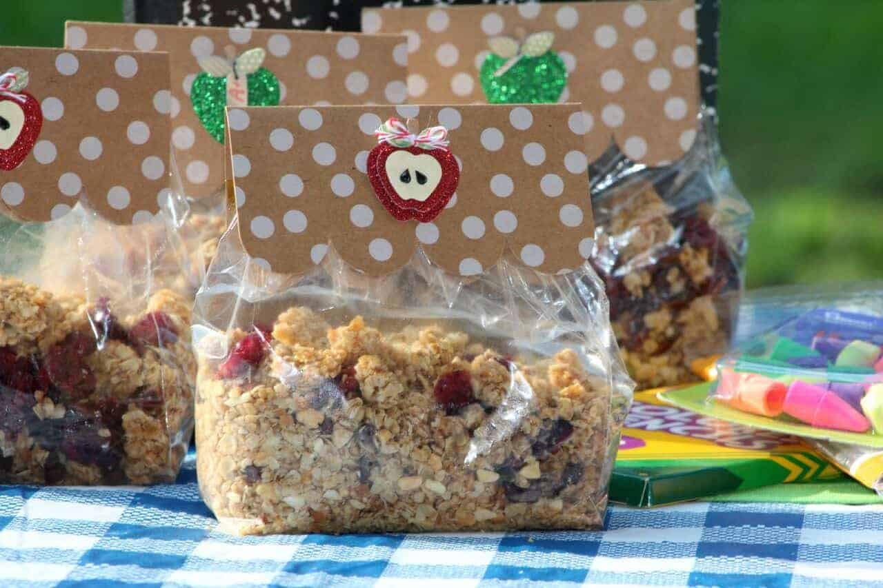 This granola snack mix is easy to customize into a Jungle Snack for your Jungle Book movie night!