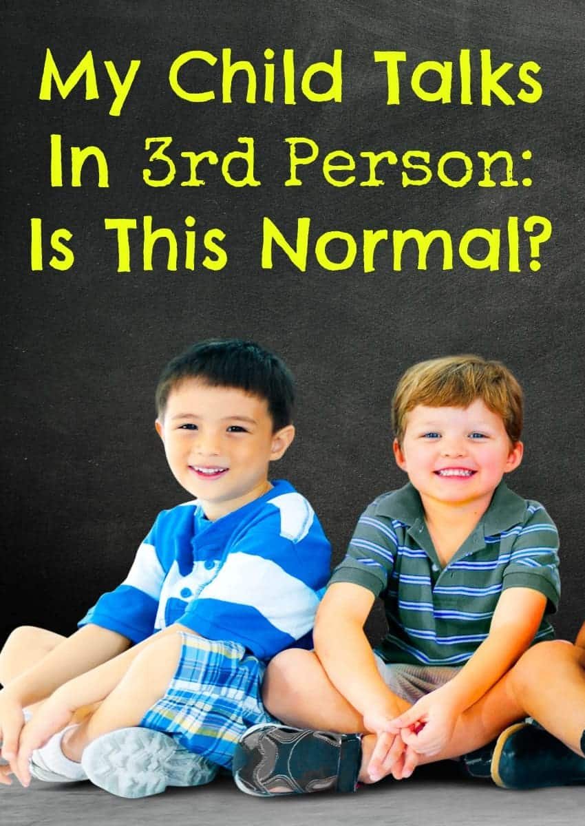 It's a little irksome when your child talks in third person all the time, but is it really a major issue? Check out our thoughts + parenting tips on this.