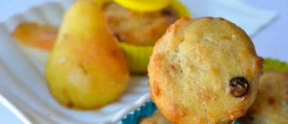 pear muffin Nut-Free Back to School Snacks